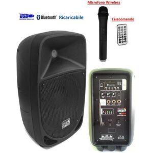 Italian Stage IS FR08AW Cassa Amplificata Attiva Portatile A Batteria Ricaricabile USB SD Bluetooth MP3