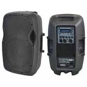 """MKC-7610PO Cassa Amplificata Professionale 10"""" Bluetooth USB MP3 RADIO FM + Telecomando"""