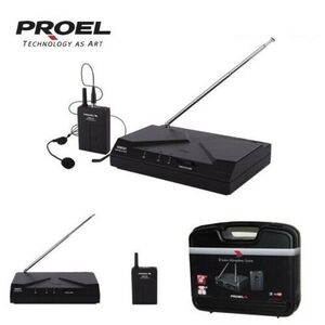Proel WM101H Radiomicrofono Archetto UHF Wireless WI-FI Professionale + Custodia