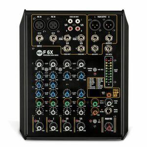 RCF F6X MIXER AUDIO COMPATTO 6 CANALI CON EFFETTI DIGITALI