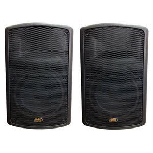 """MKC SKFP210A COPPIA CASSE AMPLIFICATE ATTIVE DIFFUSORI AUDIO 10"""" AB Lineari (Style FBT MAXX 2A)"""