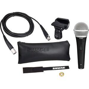 Shure PG58 XLR B Microfono Dinamico con Custodia, Cavo, Clip e Zipper