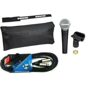 SHURE SM58 ORIGINALE MICROFONO CARDIOIDE x CANTO VOCE + CAVO XLR + Kit Accessori