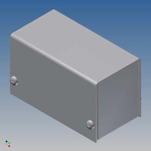 TEKO AL BOX 1/B.1 CONTENITORE ALLUMINIO SCATOLA IN METALLO KEYBOARD 38x72x43mm