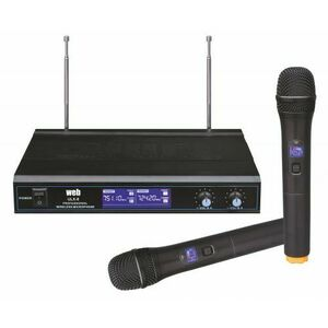 Coppia Radio Microfoni Wireless Radiomicrofono wi-fi senza fili UHF 3 Display
