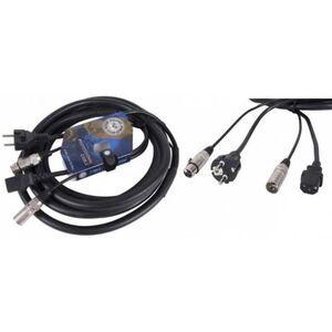 Cavo Phono Rete Prolunga Segnale XLR Cannon + alimentazione per casse amplificate attive 20M