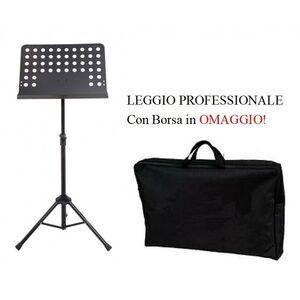 LEGGIO FORATO PROFESSIONALE PER SPARTITI BANDA MUSICALE TEATRO ORCHESTRA + BORSA!
