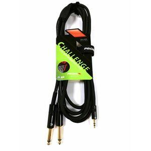 Proel CHLP170LU15 Cavo Y jack 3,5 Stereo a 2 jack 6,3 Mono 1,5mt Professionale