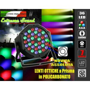 PAR LED 36 x 3 Watt ALTA LUMINOSITA DMX STROBO WASH PROGRAMMABILE