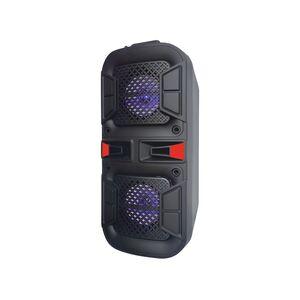 """Cassa Amplificata Attiva 2x 4"""" con Batteria Effetti LED Bluetooth/SD/USB/Radio"""