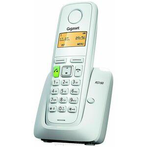 GIGASET AS160 WHITE TELEFONO CORDLESS CON VIVAVOCE BIANCO