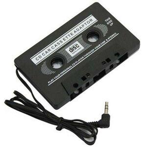 ADATTATORE MUSICASSETTA A JACK 3.5 per ipod mp3 lettore cd stereo auto cavo pc