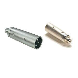 Adattatore Connettore Audio Cannon Jack XLR maschio 3 poli - RCA femmina