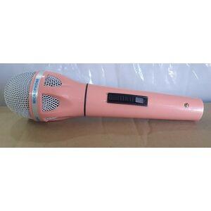 Microfono Rosa Pink Perlato Dinamico per Voce Canto Parlato Karaoke + cavo