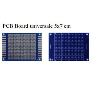 BASETTA PCB MILLEFORI MILLE FORI IN VETRONITE 50X70mm PIASTRA FORATA