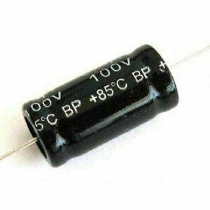Condensatore 4,7uF 100V NP Non Polarizzato 85° Assiale 26x13mm per Tweeter