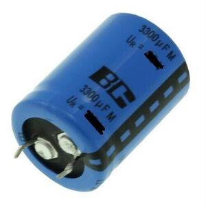 Condensatore Elettrolitico 3300uF 50V 105°C Snap-in Radiale 25x40mm