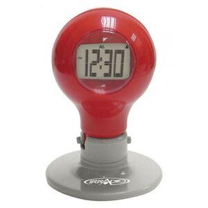IRRADIO Bulb Orologio Sveglia con termometro e display retroilluminato da tavolo