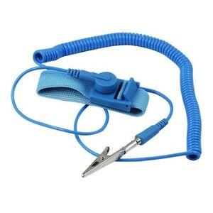 Braccialetto Antistatico Bracciale da Polso Cinturino Morsetto Azzurro Qualità