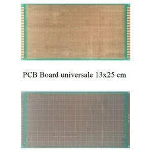 BASETTA PCB MILLEFORI MILLE FORI IN VETRONITE 130X250mm PIASTRA FORATA