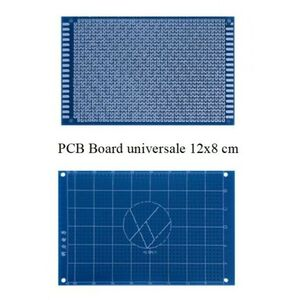 BASETTA PCB MILLEFORI MILLE FORI IN VETRONITE 120X80mm PIASTRA FORATA