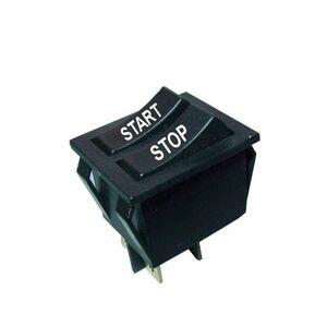 Doppio pulsante a bilanciere START/STOP 8A 250VAC - nero