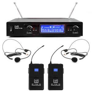 XT VT-302 AA Radiomicrofono VHF Doppio Bodypack + Archetto