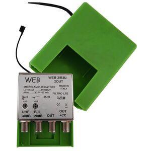Amplificatore Antenna TV da palo Web3 / R3U 2 OUT