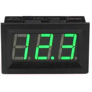 Voltmetro digitale display led verde DC 0-30V 3 fili
