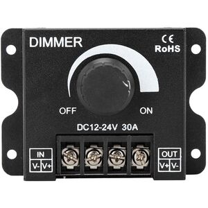 Dimmer Light-Controller Alimentazione striscia LED monocolore 12-24V con luminosità regolabile