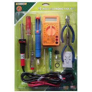 Kit Saldatore a stagno per elettronica + tester multimetro + utensili