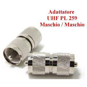 Connettore Adattatore UHF PL 259 Maschio - Maschio