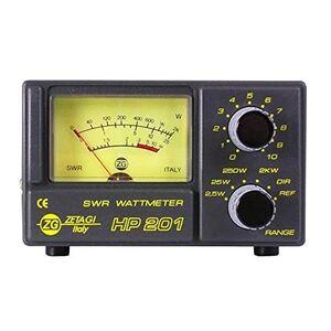 ZETAGI HP201 SWR / PWR METER ROSMETRO WATTMETRO 2KW 3-200MHZ