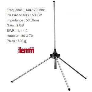 LEMM AT-36 Antenna da Base Fissa o Balcone VHF 144 Mhz