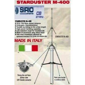 SIRIO STARDUSTER M-400 ANTENNA DA BASE CB 26.5 - 30Mhz TARABILE