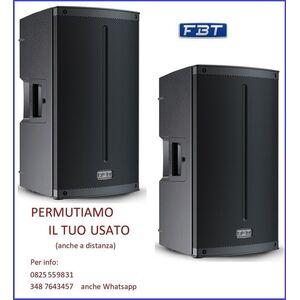 """FBT Xlite 112A Coppia Casse Amplificate Attive Professionali 12"""" 3000W Bluetooth 5.0"""