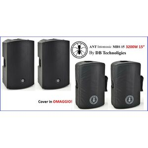 """ANT MBS 15 By DB Technologies 3200W Casse Amplificate Attive Professionali 15"""""""