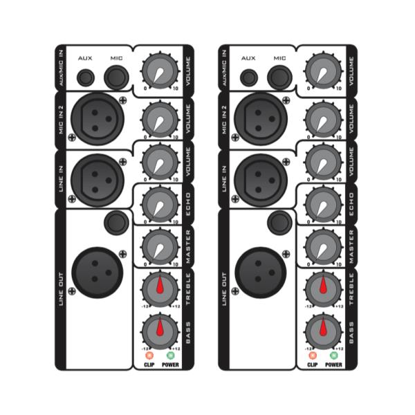 """Audiodesign Max2/12 2100W 12"""" Coppia Casse Amplificate Attive Audio DJ"""