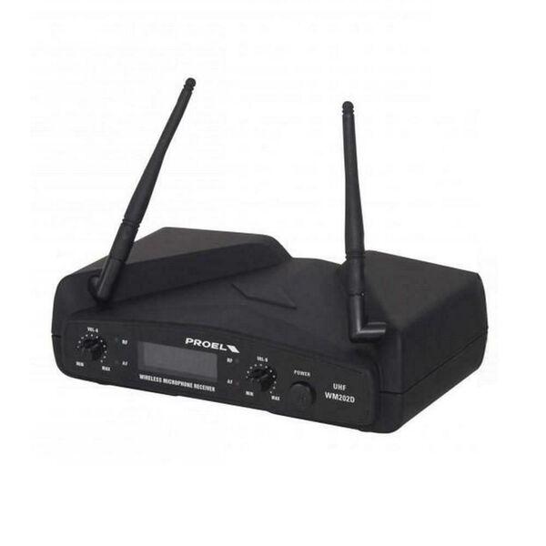 PROEL WM202DH Dual Radio Microfono Wireless UHF Professionale ad Archetto Doppio