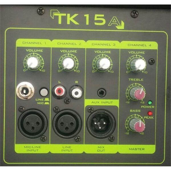 """TECHNOSOUND TK15A CASSA AMPLIFICATA ATTIVA 15"""" DIFFUSORE AUDIO 600W"""