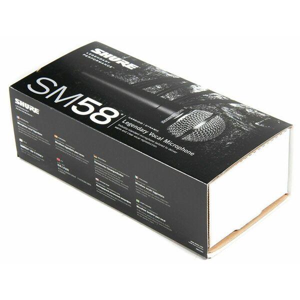 SHURE SM58 ORIGINALE MICROFONO CARDIOIDE x CANTO VOCE + Kit Accessori