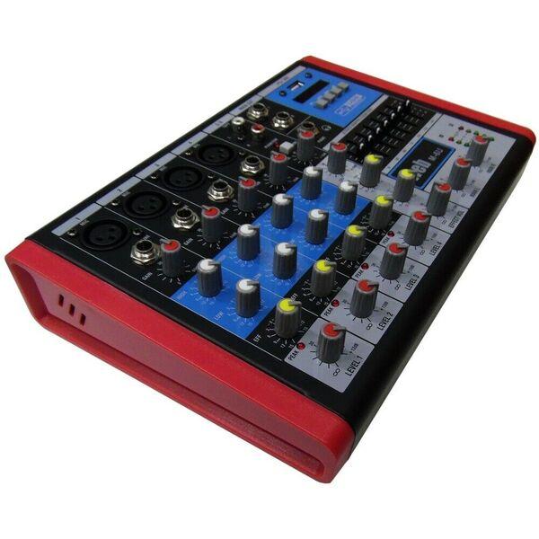 MIXER AUDIO 6 CANALI CON USB BLUETOOTH EFFETTI ECO DJ KARAOKE PIANOBAR