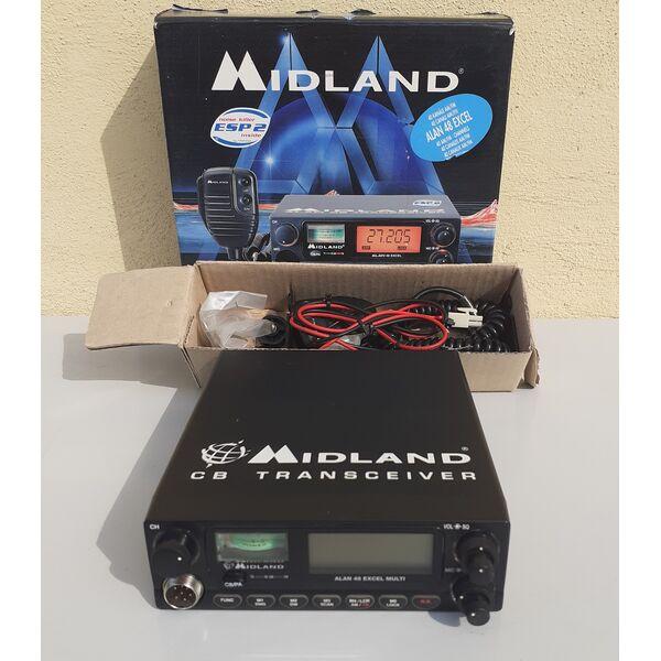 Midland Alan 48 Excel Multi Radio CB Multistandard