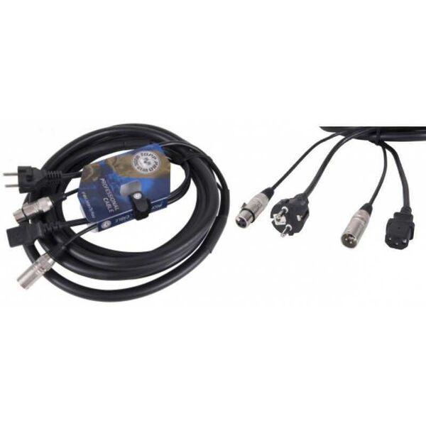 Cavo Phono Rete Prolunga Segnale XLR Cannon + alimentazione per casse amplificate attive 15M