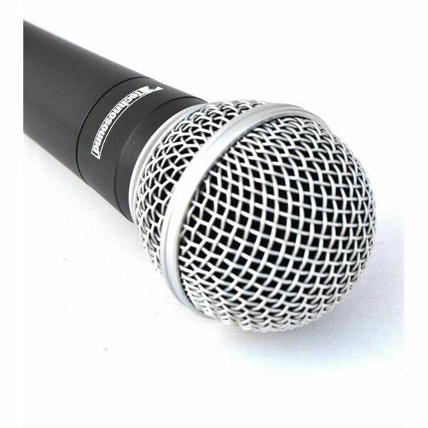 TECHNOSOUND MS 58 microfono professionale + valigetta per karaoke radio speaker