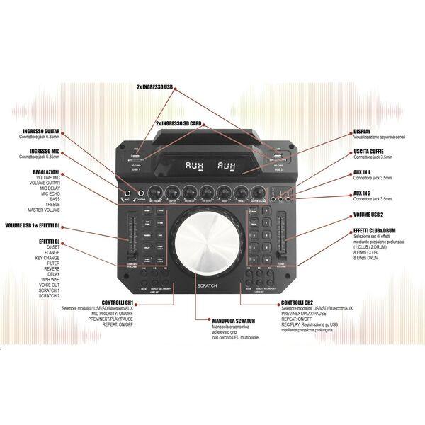 Console DJ Mixer USB/SD/Bluetooth per DJ
