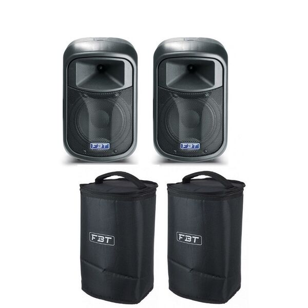 FBT J8A + Cover V37 Coppia Casse Amplificate Attive Professionali