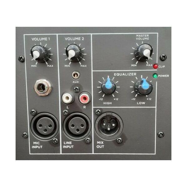 """Gemini 1500W PMPO Cassa Amplificata Attiva Diffusore Audio Dj Live 12"""""""
