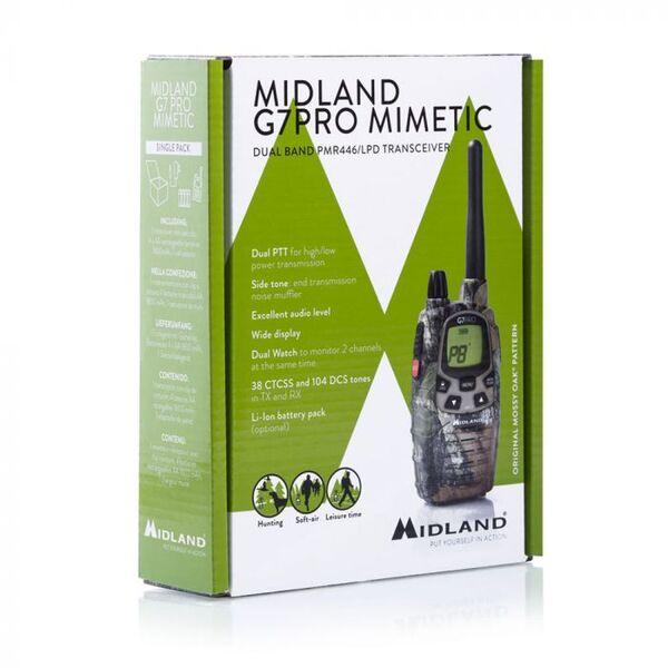 KIT FULL PACK MIDLAND G7 PRO MIMETICA + AURICOLARE + BATTERIE + CARICATORE SOFT AIR RADIO