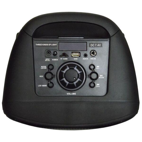 "Cassa acustica Amplificata Attiva 2x 6.5"" Portatile a Batteria Ricaricabile Effetti LED Bluetooth/SD/USB/Radio"